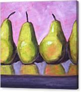 Pear Line Canvas Print