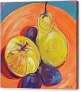 Pear Plums Apple Canvas Print