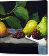 Pear Row Canvas Print