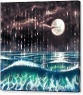 Pearl Rain @ Precious Pearl Ocean Canvas Print