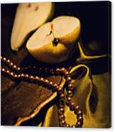 Pearls And Pears Canvas Print