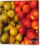 Pears And Peaches. Fresh Market Series Canvas Print