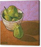 Pears In Bowl Canvas Print