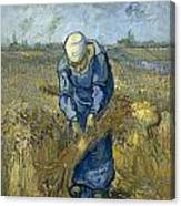 Peasant Woman Binding Sheaves - After Millet Canvas Print