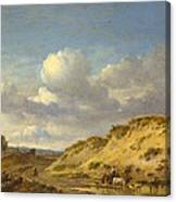 Peasants Driving Cattle And Sheep Canvas Print