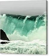 Pebble Beach Crashing Wave Canvas Print