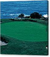 Pebble Beach Golf Course 8th Green Canvas Print