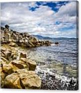 Pebbled Beach Under Dramatic Skies Number Two Canvas Print