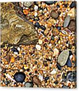 Pebbles And Sand Canvas Print