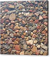 Pebbles Under Water Canvas Print