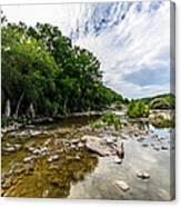 Pedernales River - Downstream Canvas Print