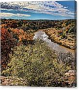 Pedernales River In Autumn Canvas Print