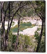 Pedernales River Pool In August Canvas Print