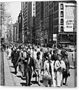 Pedestrians In New York Canvas Print
