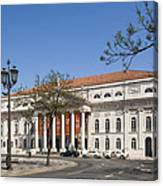 Pedro Iv Square Best Known As Rossio Square Canvas Print