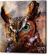 Peeking Owl Canvas Print