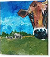 Peeping Bessie Canvas Print