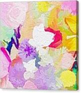 Pefect Birthday Flowers Canvas Print