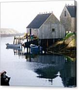 Peggy's Cove Boat And Fisherman's Boat House Canvas Print