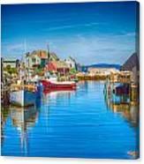 Peggy's Cove Boats Nova Scotia Canvas Print