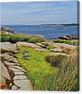 Peggy's Cove From Lighthouse-ns Canvas Print