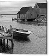 Peggys Cove In Black And White Canvas Print