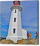 Peggy's Cove Lighthouse Closeup-ns Canvas Print