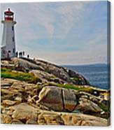 Peggy's Cove Lighthouse On The Rocks-ns Canvas Print
