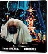 Pekingese Art - Star Wars Movie Poster Canvas Print