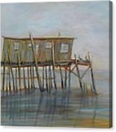 Pelican House In Cedar Kay Canvas Print