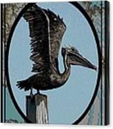 Pelican Paradise Canvas Print