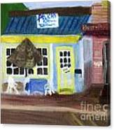Pelican Restaurant On Lake Ave In Lake Worth Florida Canvas Print