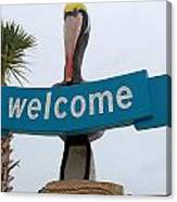 Pelican Welcome Canvas Print
