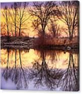 Pella Crossing Sunrise Reflections Hdr Canvas Print