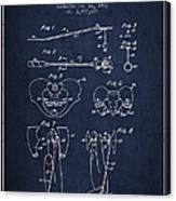 Pelvic Measuring Device Patent From 1963 - Navy Blue Canvas Print