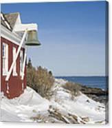 Pemaquid Point Bell House On The Maine Coast Canvas Print
