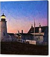 Pemaquid Point Light At Dawn Canvas Print