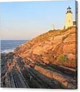 Pemaquid Point Lighthouse Bluffs Canvas Print