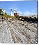 Pemaquid Point Lighthouse In Maine Canvas Print