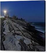 Pemaquid Point Lighthouse Moonlight Canvas Print
