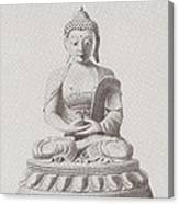 Pen And Ink Buddha Canvas Print