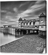 Penarth Pier 1 Mono Canvas Print
