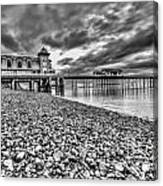Penarth Pier 2 Mono Canvas Print