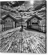 Penarth Pier 2 Monochrome Canvas Print