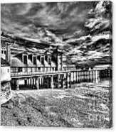 Penarth Pier 6 Monochrome Canvas Print