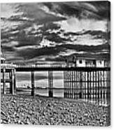 Penarth Pier Panorama Monochrome Canvas Print