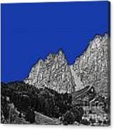 Pencil Sketch Of Dolomites Canvas Print