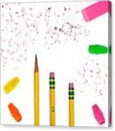Pencils And Erasers Canvas Print