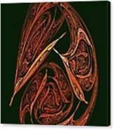 Pendant Fractal Paisley Canvas Print