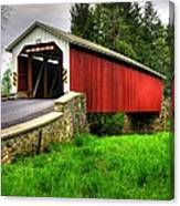 Pennsylvania Country Roads - Forry's Mill Covered Bridge - Lancaster County Spring No. 2 Canvas Print